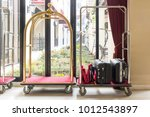 hotel luggage cart   baggage... | Shutterstock . vector #1012543897