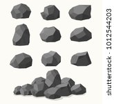 pile of  stones  graphite coal. ... | Shutterstock .eps vector #1012544203