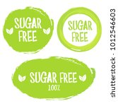 green label with text sugar free | Shutterstock .eps vector #1012546603