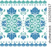 beautiful blue and green floral ... | Shutterstock .eps vector #1012550317