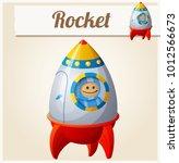toy rocket. cartoon... | Shutterstock . vector #1012566673