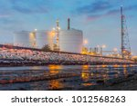 oil and gas refinery industrial ... | Shutterstock . vector #1012568263