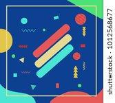 abstract avangarde retro... | Shutterstock .eps vector #1012568677