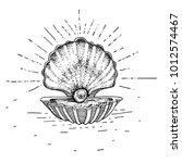 hand drawn pearl tattoo. vector ...   Shutterstock .eps vector #1012574467