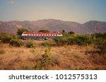 indian railways. locomotive ... | Shutterstock . vector #1012575313