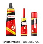 vector tubes of glue   adhesive ... | Shutterstock .eps vector #1012582723