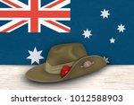 anzac day poppies memorial... | Shutterstock .eps vector #1012588903