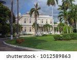 devon house in kingston jamaica.... | Shutterstock . vector #1012589863