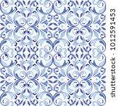 oriental vector seamless... | Shutterstock .eps vector #1012591453