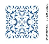 oriental vector square ornament ... | Shutterstock .eps vector #1012598023