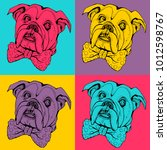 pop art seamless pattern....   Shutterstock .eps vector #1012598767