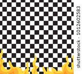 chessboard and fire seamless... | Shutterstock .eps vector #1012602583