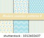 polka dot  strips wave seamless ... | Shutterstock .eps vector #1012602637