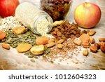healthy eating  healthy diet... | Shutterstock . vector #1012604323