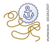 rope and seal with naval anchor ... | Shutterstock .eps vector #1012612537