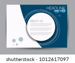 landscape wide flyer template.... | Shutterstock .eps vector #1012617097