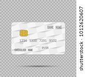 template realistic credit card... | Shutterstock .eps vector #1012620607