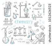 vector set of doodle drawings... | Shutterstock .eps vector #1012626523