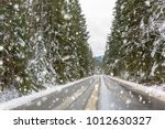 snowy road in tatra mountains ... | Shutterstock . vector #1012630327