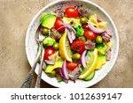 tuna salad with pasta and...