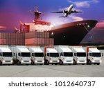 transportation  import export... | Shutterstock . vector #1012640737