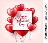 valentine's day abstract... | Shutterstock .eps vector #1012642393