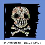 pirate symbol jolly rogers...   Shutterstock .eps vector #1012642477