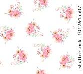 seamless summer pattern with... | Shutterstock . vector #1012645507