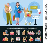 supermarket people icons... | Shutterstock .eps vector #1012652227