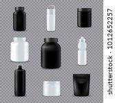 fitness sport drink supplements ... | Shutterstock .eps vector #1012652257