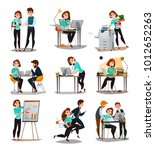 multitasking isolated icons set ... | Shutterstock .eps vector #1012652263