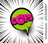 oops  ouch comic text speech... | Shutterstock .eps vector #1012658497