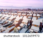 aerial view of snow covered... | Shutterstock . vector #1012659973