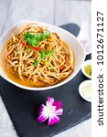 kao soi or thai curry noodles... | Shutterstock . vector #1012671127