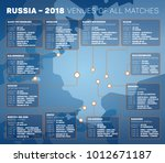 russia   january 2018  venues...   Shutterstock .eps vector #1012671187