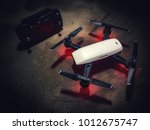 Small photo of Melaka, Malaysia - Circa January, 2018: The DJI Spark drone. The smallest drone from DJI with 1080p capability.