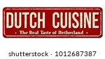 dutch cuisine vintage rusty... | Shutterstock .eps vector #1012687387
