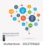ai creative think system... | Shutterstock .eps vector #1012705663