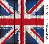 grunged british union jack flag ... | Shutterstock .eps vector #101272477