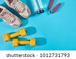 female sport shoes and...   Shutterstock . vector #1012731793