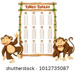 time tables template with two... | Shutterstock .eps vector #1012735087