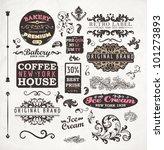 set of vintage retro bakery... | Shutterstock .eps vector #101273893