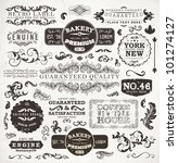 retro labels and vintage badges ... | Shutterstock .eps vector #101274127