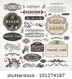 retro label style collection  ... | Shutterstock .eps vector #101274187