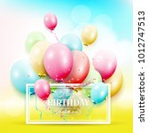 happy birthday greeting card... | Shutterstock .eps vector #1012747513