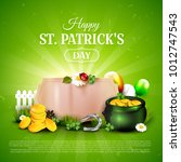 st. patrick's day background... | Shutterstock .eps vector #1012747543
