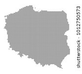 pixel mosaic map of poland on...