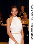 WASHINGTON � APRIL 28: Irina Shayk arrives at the White House Correspondents Dinner April 28, 2012 in Washington, D.C. - stock photo