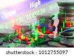 stock market or forex trading... | Shutterstock . vector #1012755097