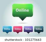 vector glossy online icon... | Shutterstock .eps vector #101275663